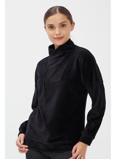 Penti Dance Velvet Sweatshirt Siyah